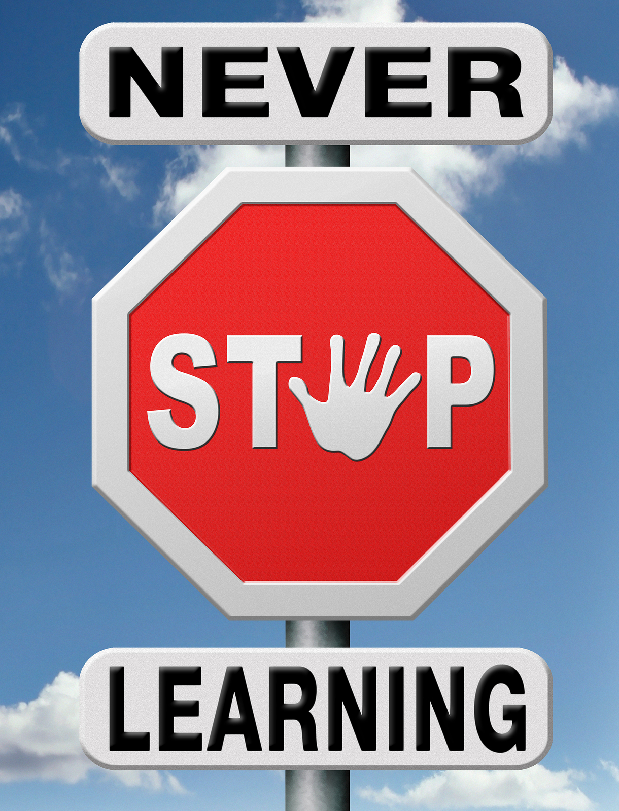 Never Stop Learning Signpost-43251589