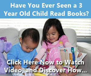discover how a 3 years old learn how to read