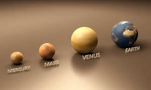 Mercury, Mars, Venus, and the Earth