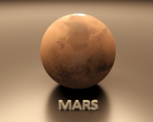Planet Mars In The Universe