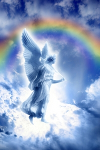 A Rainbow Above an Angel in the Heaven