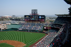 Los Angeles Angel Stadium of Anaheim Scoreboard