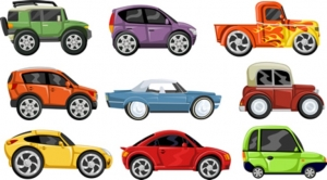 Different Kinds of Toy Cars