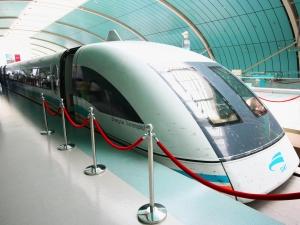 A Shanghai Transrapid Maglev or Bullet Train