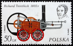 Postage Stamp with the First Train