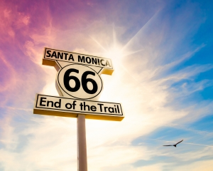 Route 66 End of the Trail Sign