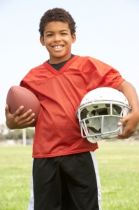 Young Aspiring Football Player