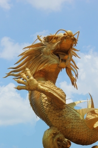 Gold Sculpture of a Dragon