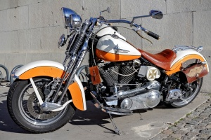 An Orange Big Motorcycle