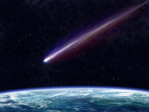 Comet Coming from Space falling Somewhere