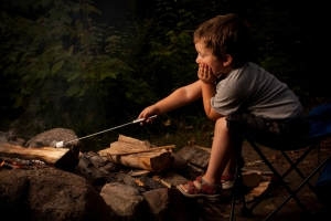 Boy Cooking Marshmallow