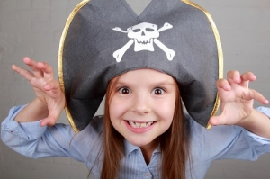 Beautiful Kid on a Pirate Costume