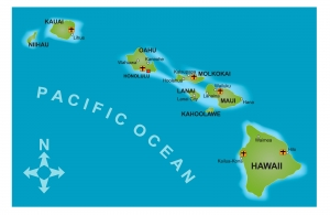 Geographical Location of Hawaii in the Pacific Ocean