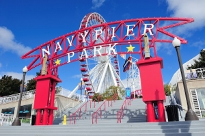 The Navy Pier Entrance Gate