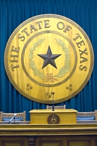 Texas State Emblem Of the Capitol
