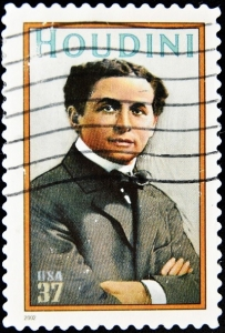 Postage Stamp of Harry Houdini - World's Famous Magician