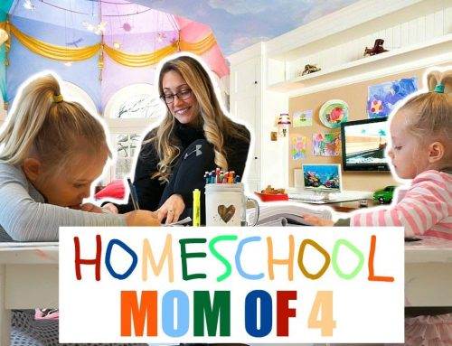 Day In The Life Of A Mom With 4 Kids   Homeschool Routine SAHM