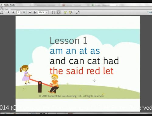 First Grade Reading Lesson 1