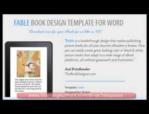 Children's eBook Template – How to Publish Children's Picture Books on Kindle