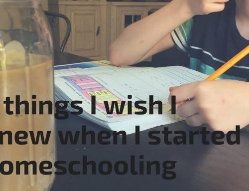 5 THINGS I WISH I KNEW WHEN I STARTED HOMESCHOOLING….