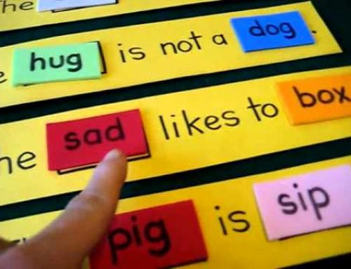Preschool – Reading game: Add phonetic words to blanks and make into silly sentences.